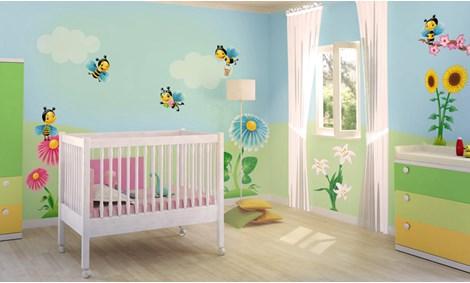 Adesivi murali bambina stickers e decorazioni leostickers - Adesivi murali per camerette ...